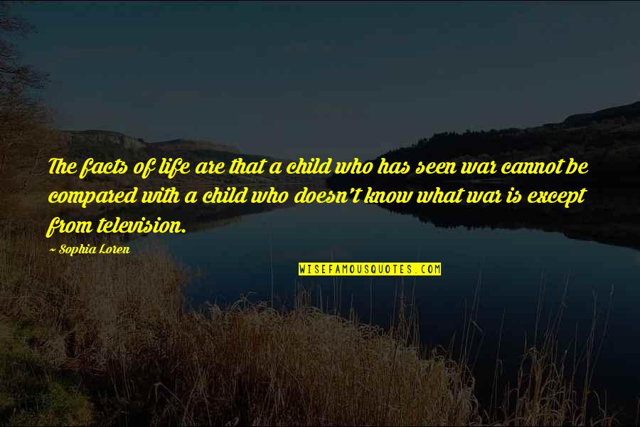 Television Quotes By Sophia Loren: The facts of life are that a child