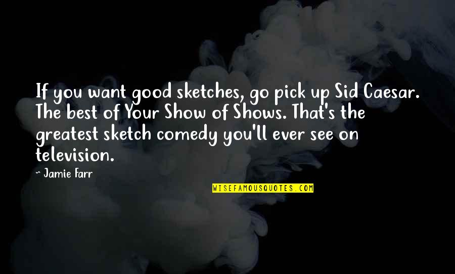 Television Shows Quotes By Jamie Farr: If you want good sketches, go pick up