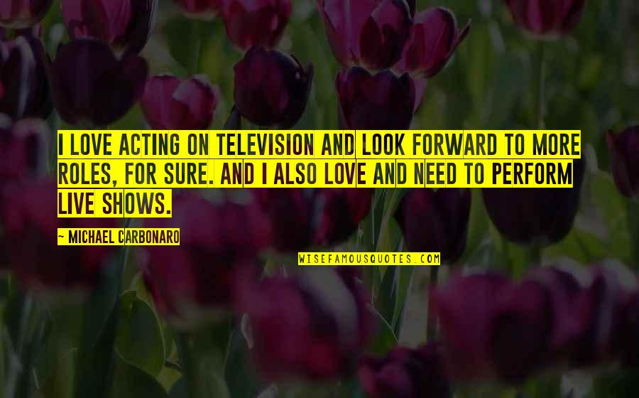 Television Shows Quotes By Michael Carbonaro: I love acting on television and look forward