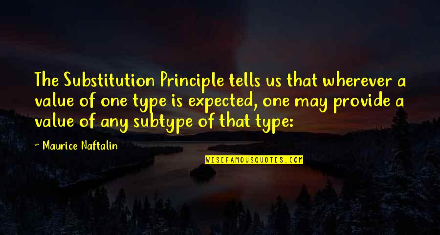Tells Quotes By Maurice Naftalin: The Substitution Principle tells us that wherever a