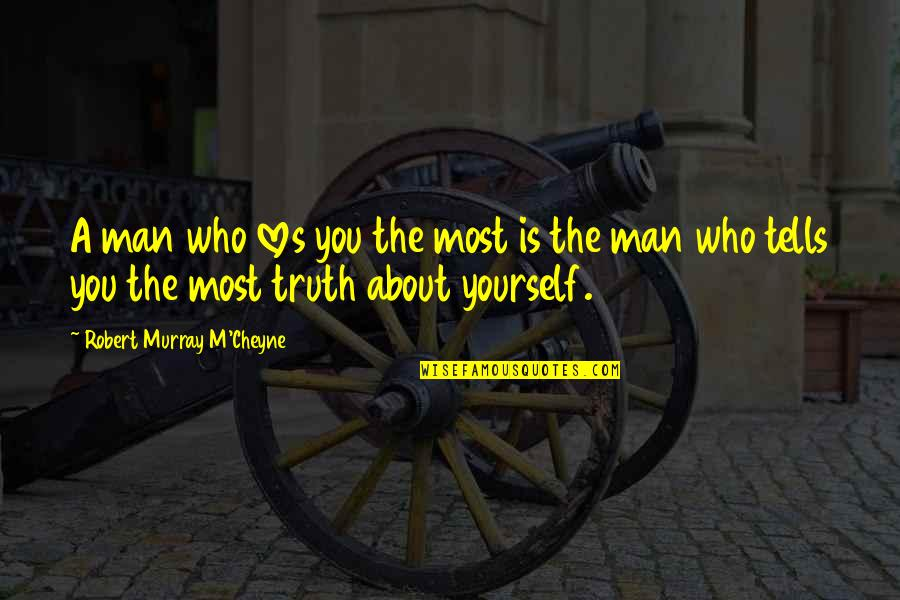 Tells Quotes By Robert Murray M'Cheyne: A man who loves you the most is