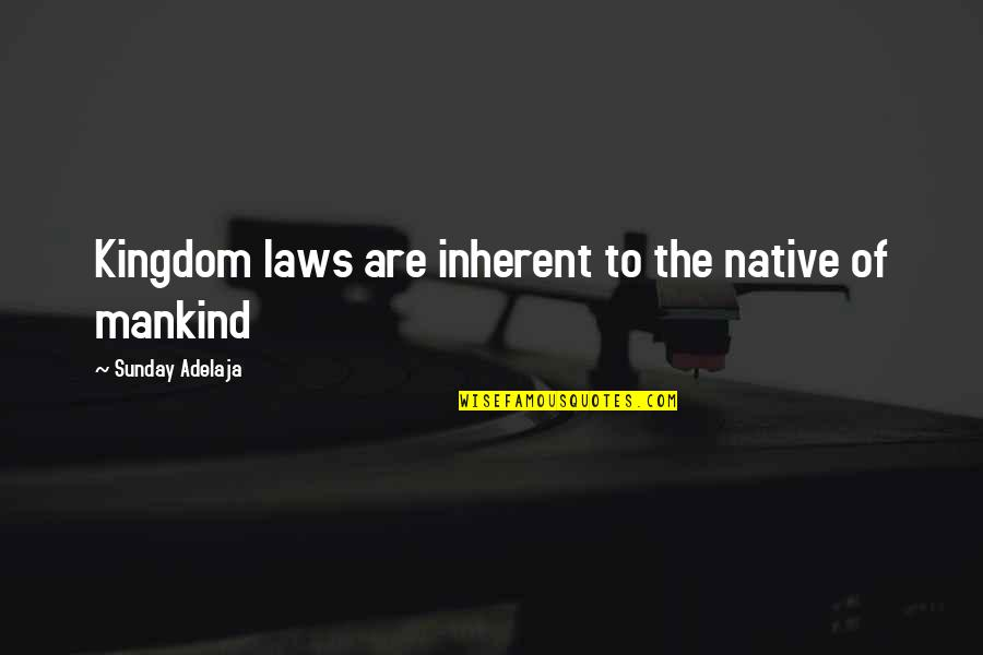 Tenacity Business Quotes By Sunday Adelaja: Kingdom laws are inherent to the native of