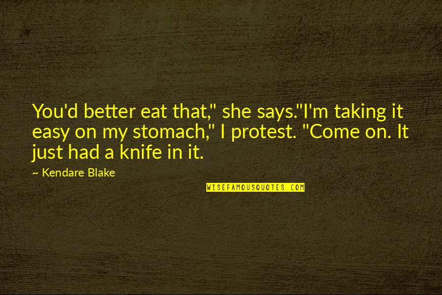 """Tennessee Insurance Quotes By Kendare Blake: You'd better eat that,"""" she says.""""I'm taking it"""