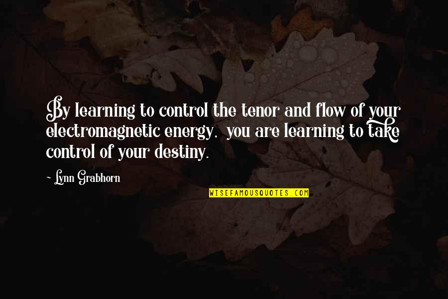 Tenor Quotes By Lynn Grabhorn: By learning to control the tenor and flow