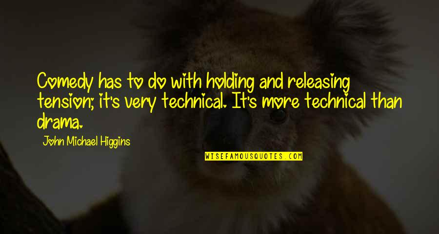 Tension In Drama Quotes By John Michael Higgins: Comedy has to do with holding and releasing