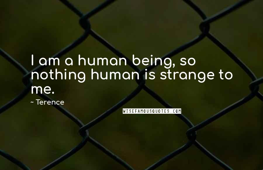 Terence quotes: I am a human being, so nothing human is strange to me.