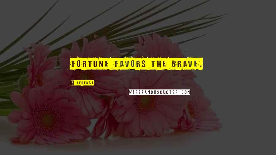 Terence quotes: Fortune favors the brave.