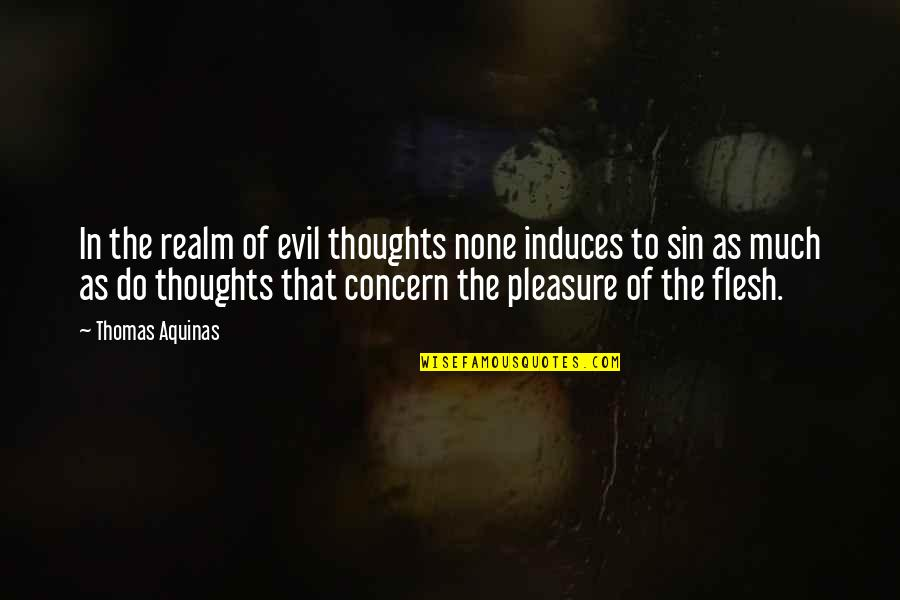 Term Insurance Plan Quotes By Thomas Aquinas: In the realm of evil thoughts none induces