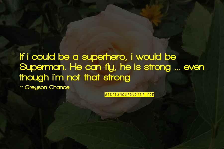 Terra Prime Quotes By Greyson Chance: If i could be a superhero, i would