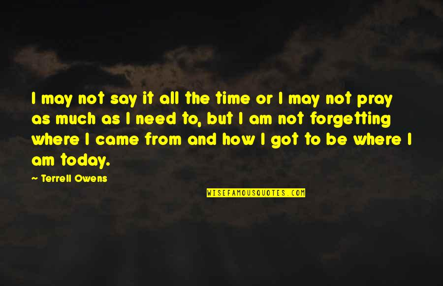 Terrell Owens Quotes By Terrell Owens: I may not say it all the time