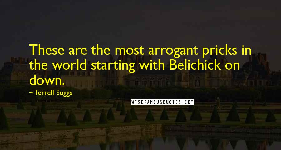 Terrell Suggs quotes: These are the most arrogant pricks in the world starting with Belichick on down.