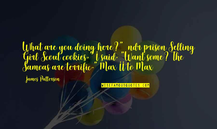 """Terrific Quotes By James Patterson: What are you doing here?"""" [ndr prison]Selling Girl"""