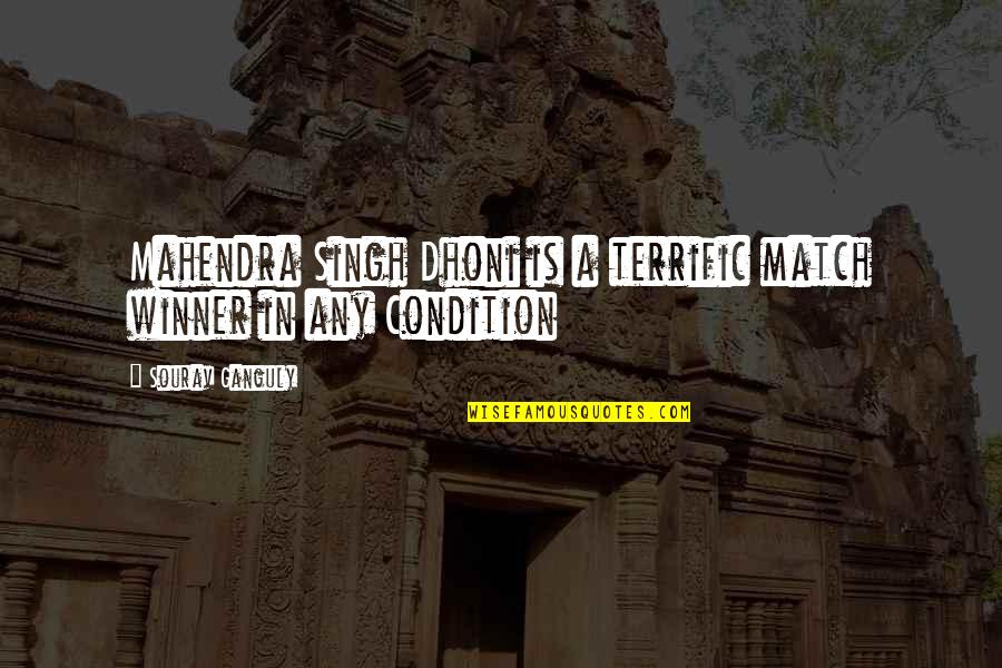 Terrific Quotes By Sourav Ganguly: Mahendra Singh Dhoni is a terrific match winner