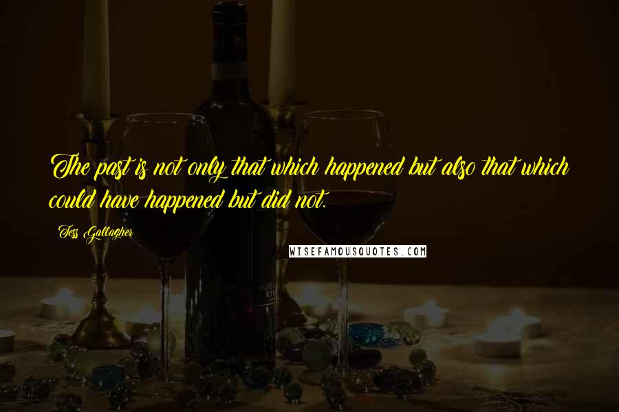Tess Gallagher quotes: The past is not only that which happened but also that which could have happened but did not.