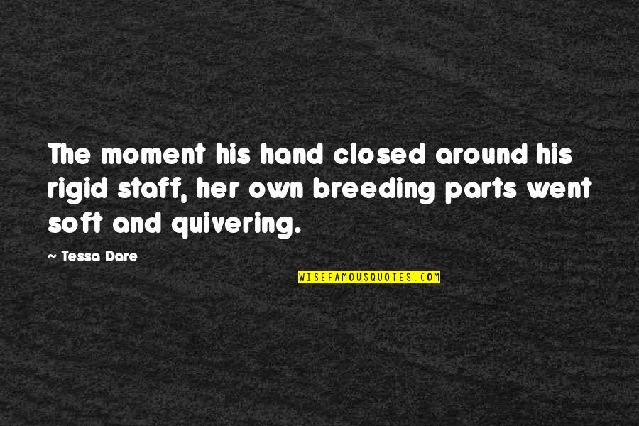 Tessa Dare Quotes By Tessa Dare: The moment his hand closed around his rigid