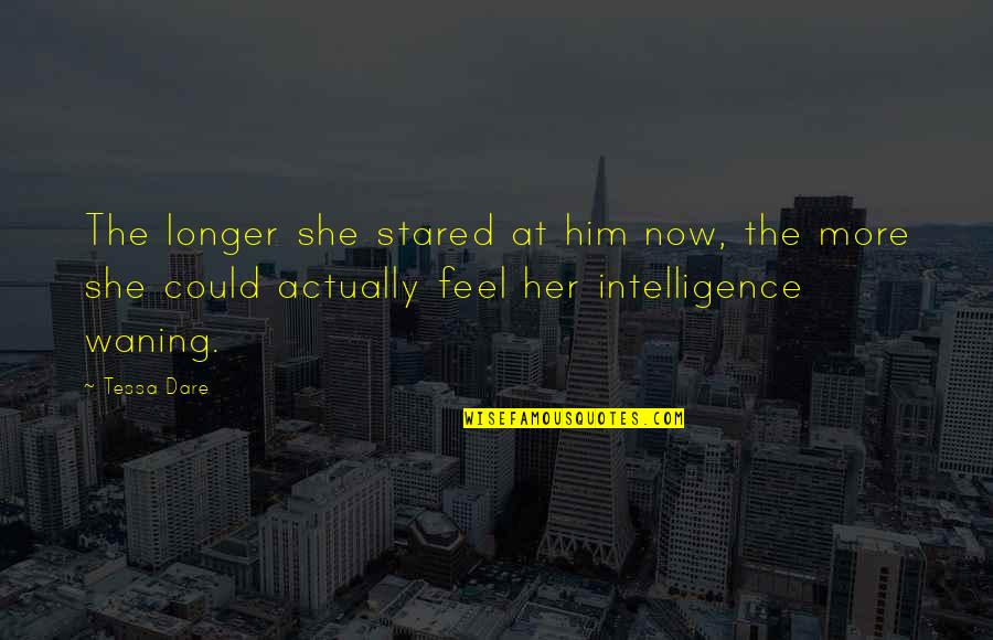 Tessa Dare Quotes By Tessa Dare: The longer she stared at him now, the