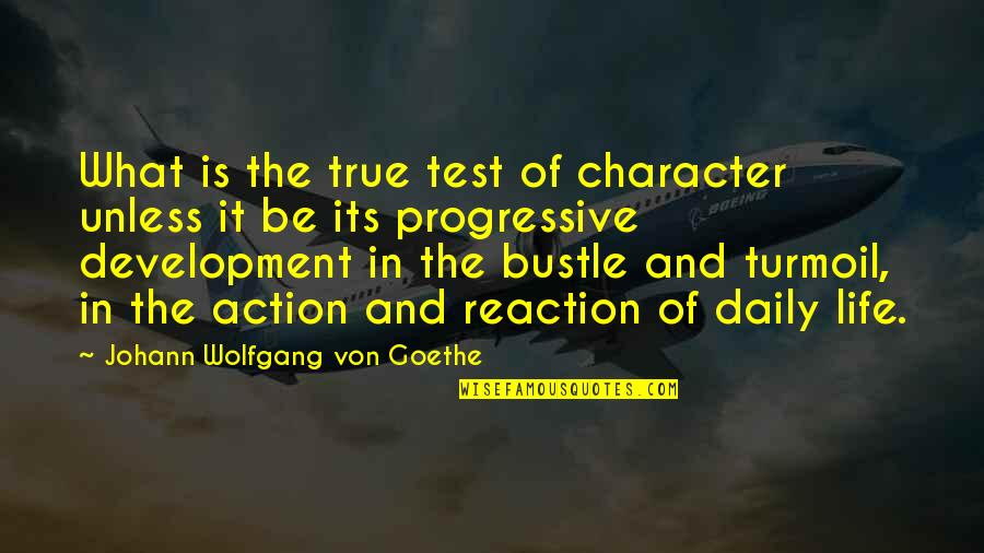 Tests In Life Quotes By Johann Wolfgang Von Goethe: What is the true test of character unless