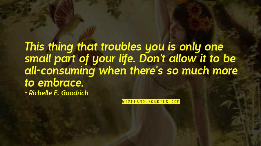 Tests In Life Quotes By Richelle E. Goodrich: This thing that troubles you is only one