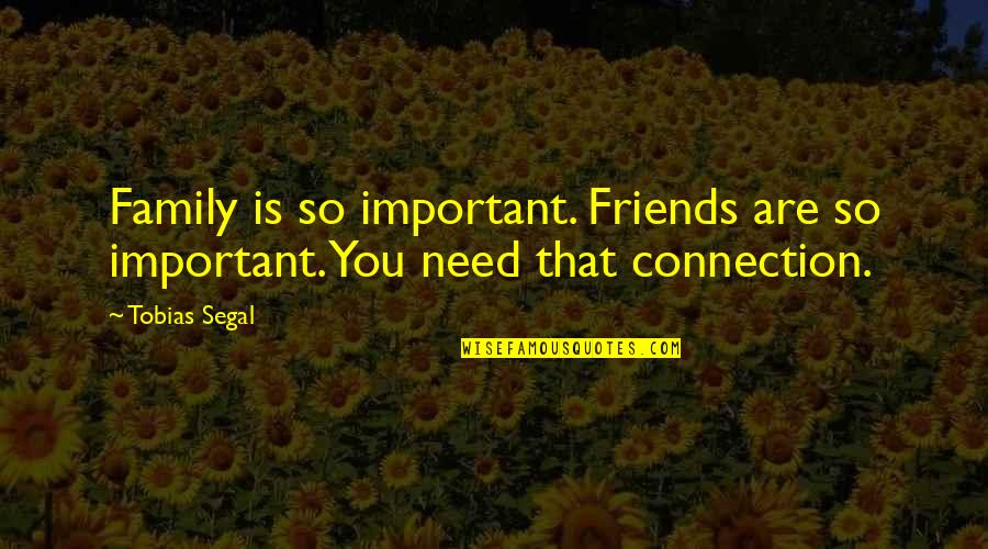 Texas Big Quotes By Tobias Segal: Family is so important. Friends are so important.