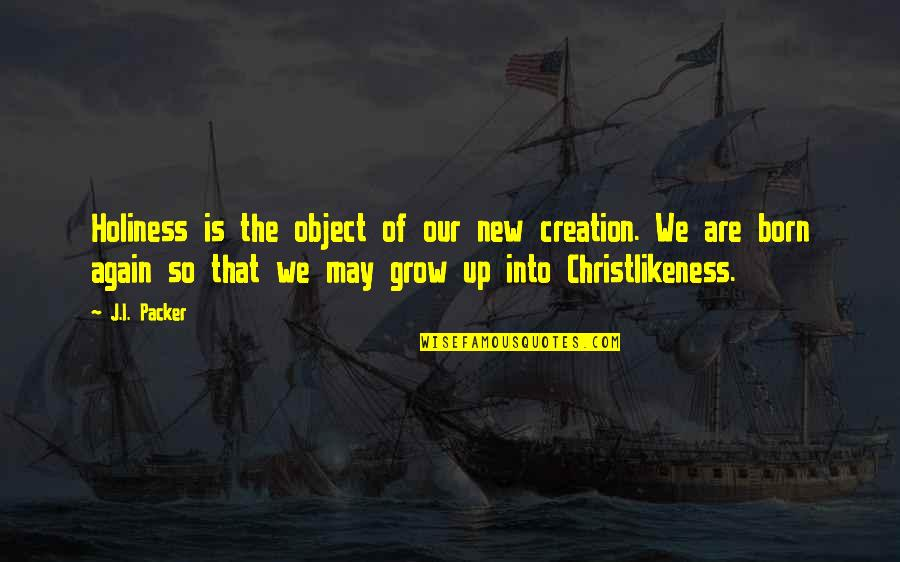 Tfc Corn Quotes By J.I. Packer: Holiness is the object of our new creation.