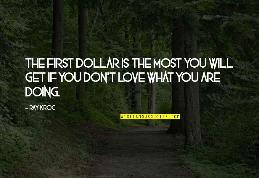 T'get Quotes By Ray Kroc: The first dollar is the most you will