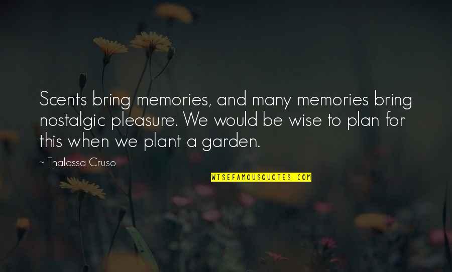 Thalassa Cruso Quotes By Thalassa Cruso: Scents bring memories, and many memories bring nostalgic