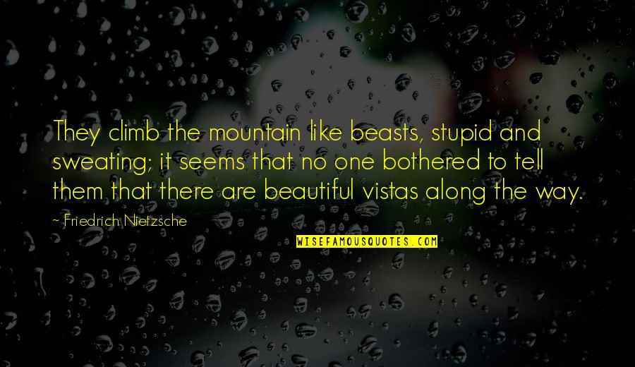 Thank You For The Wonderful Time Quotes By Friedrich Nietzsche: They climb the mountain like beasts, stupid and