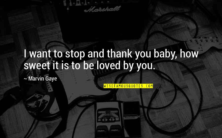 Thank You Your Friendship Quotes By Marvin Gaye: I want to stop and thank you baby,