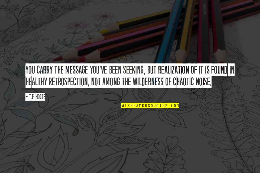 Thankful For My Birthday Quotes By T.F. Hodge: You carry the message you've been seeking, but