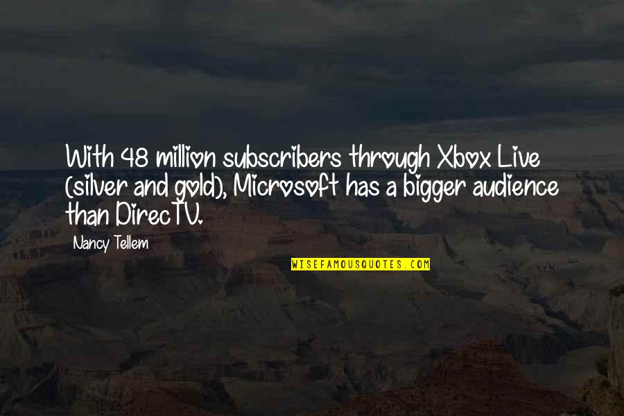 Thanks To You My Friend Quotes By Nancy Tellem: With 48 million subscribers through Xbox Live (silver