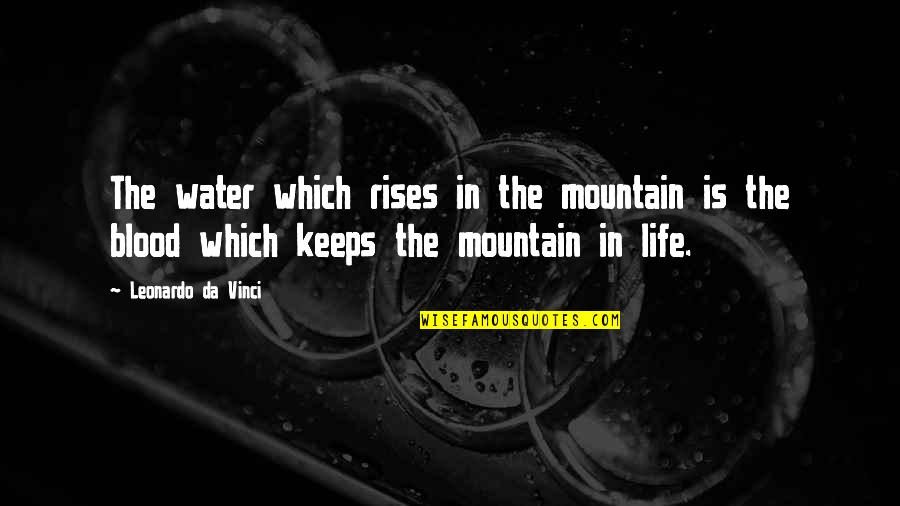 Thanksgiving Celebration Quotes By Leonardo Da Vinci: The water which rises in the mountain is