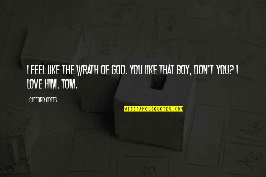 That Boy You Like Quotes By Clifford Odets: I feel like the wrath of God. You