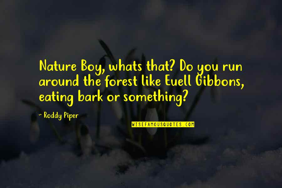 That Boy You Like Quotes By Roddy Piper: Nature Boy, whats that? Do you run around