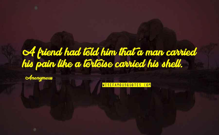 That Friend Quotes By Anonymous: A friend had told him that a man