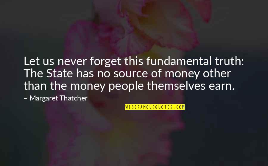 Thatcher's Quotes By Margaret Thatcher: Let us never forget this fundamental truth: The