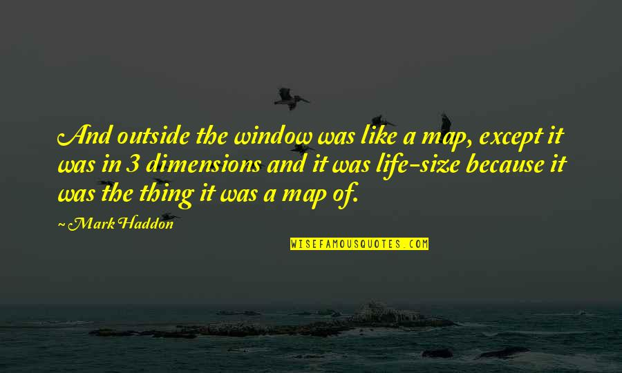 The 3 Quotes By Mark Haddon: And outside the window was like a map,