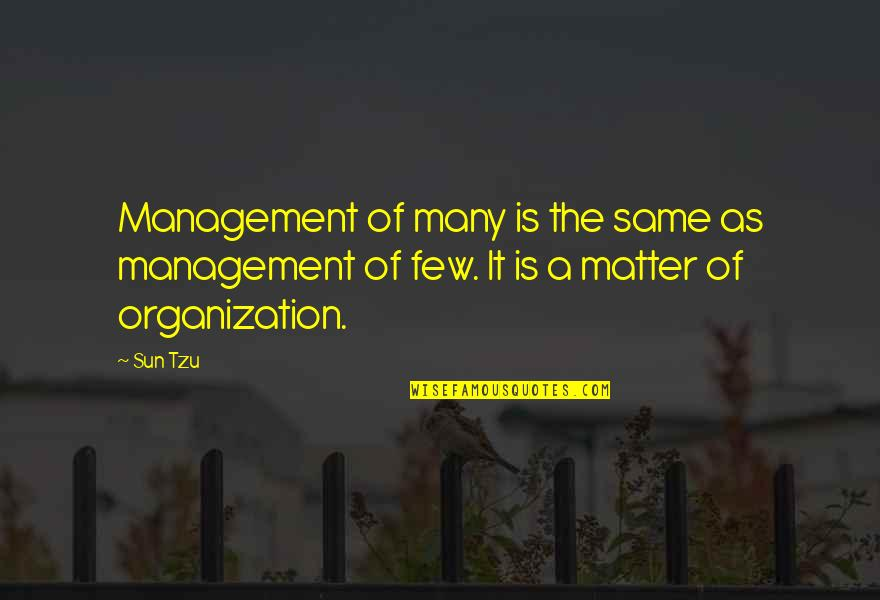 The Art Of War Quotes By Sun Tzu: Management of many is the same as management