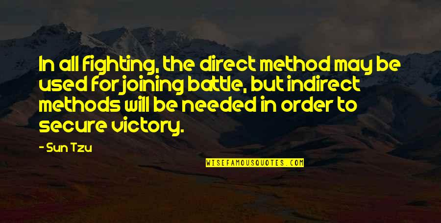 The Art Of War Quotes By Sun Tzu: In all fighting, the direct method may be