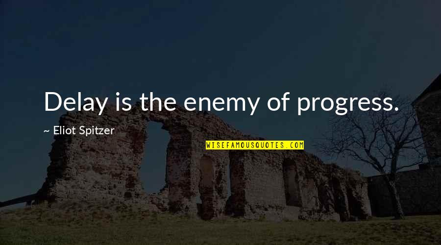The Barn In Animal Farm Quotes By Eliot Spitzer: Delay is the enemy of progress.