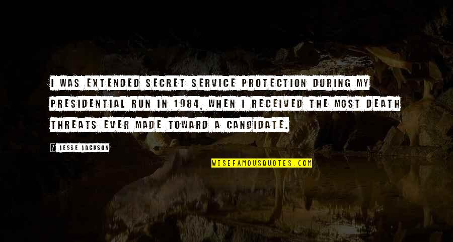 The Barn In Animal Farm Quotes By Jesse Jackson: I was extended secret service protection during my