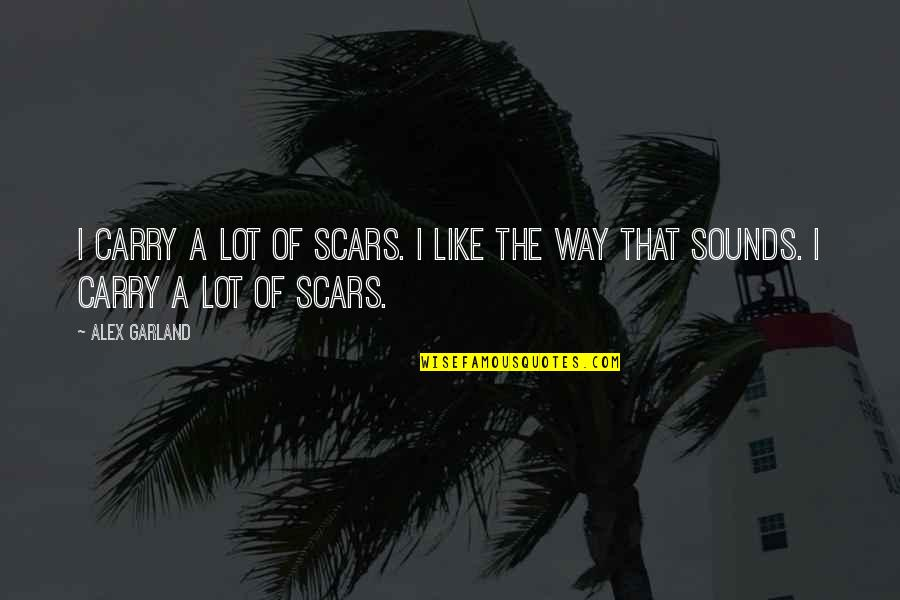 The Beach Life Quotes By Alex Garland: I carry a lot of scars. I like
