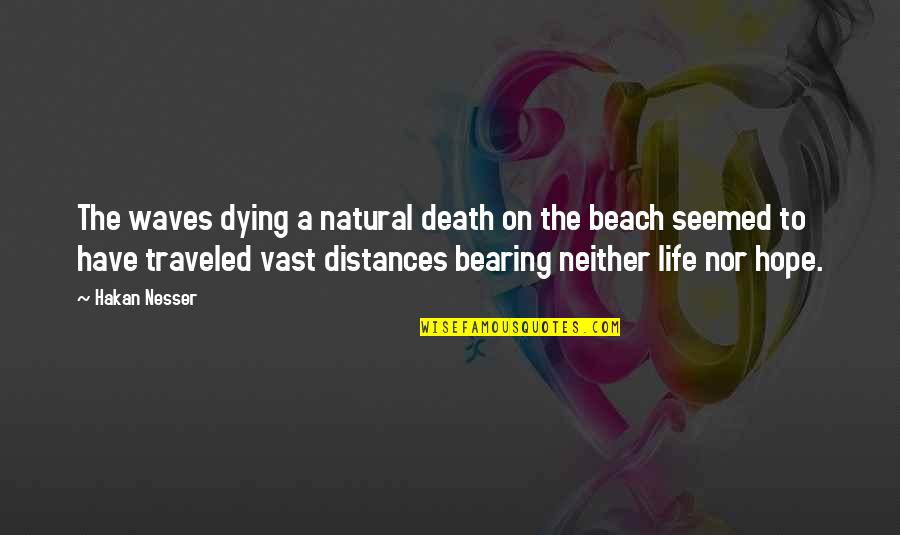 The Beach Life Quotes By Hakan Nesser: The waves dying a natural death on the