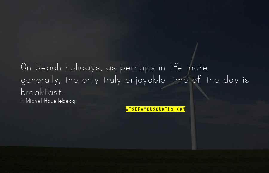 The Beach Life Quotes By Michel Houellebecq: On beach holidays, as perhaps in life more