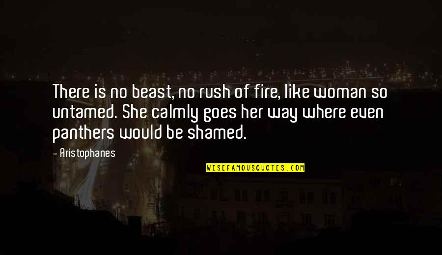 The Beast Within Quotes By Aristophanes: There is no beast, no rush of fire,