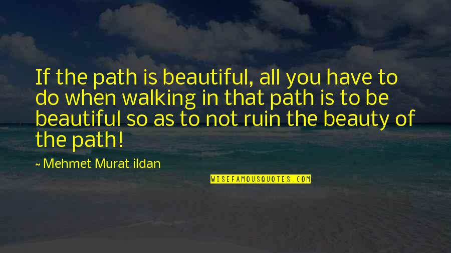 The Beautiful You Quotes By Mehmet Murat Ildan: If the path is beautiful, all you have