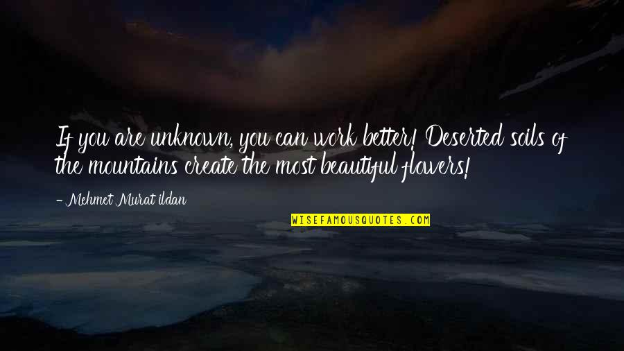 The Beautiful You Quotes By Mehmet Murat Ildan: If you are unknown, you can work better!