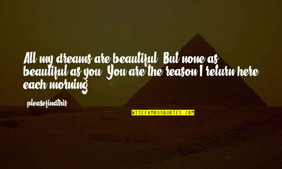 The Beautiful You Quotes By Pleasefindthis: All my dreams are beautiful. But none as