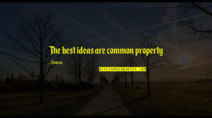 The Best Ideas Quotes By Seneca.: The best ideas are common property