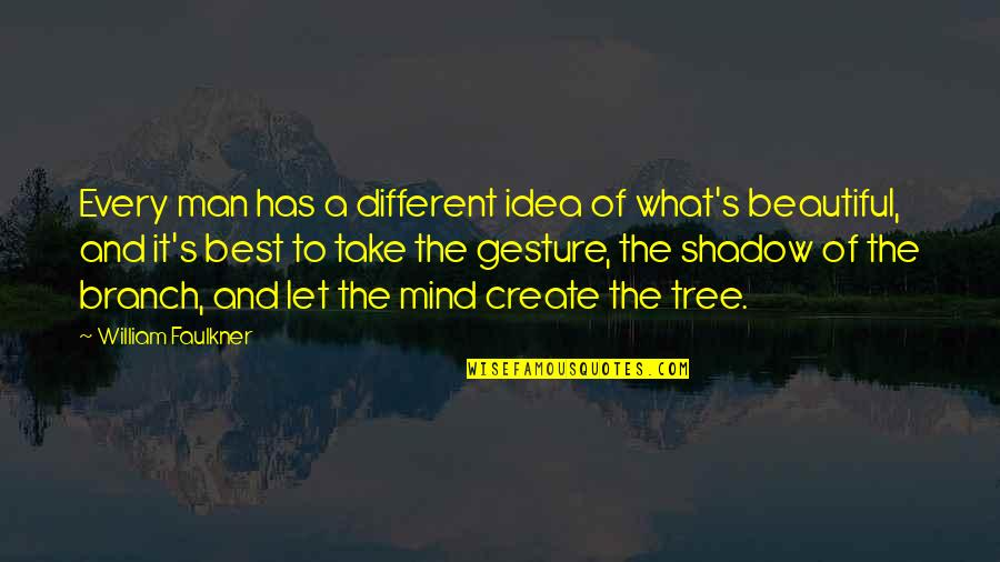 The Best Ideas Quotes By William Faulkner: Every man has a different idea of what's