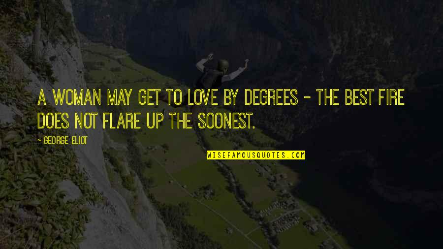 The Best Love Quotes By George Eliot: A woman may get to love by degrees